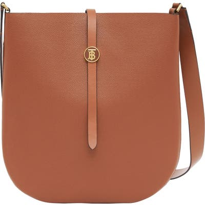 Burberry Anne Grainy Leather Crossbody Bag - Brown