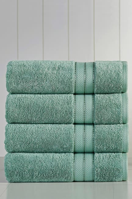 Image of Modern Threads Spunloft Bath Towel - Set of 4 - Eucalyptus