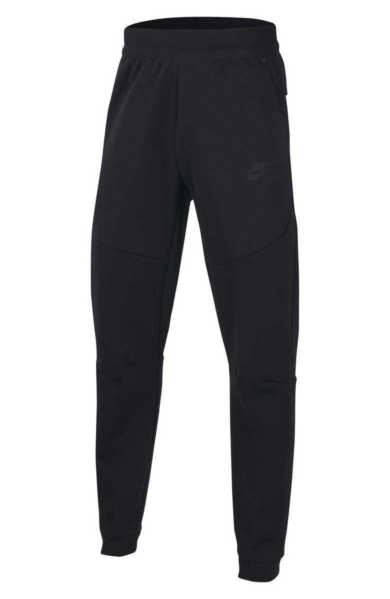 NIKE Kids' Tech Fleece Pants, Main, color, BLACK/ BLACK