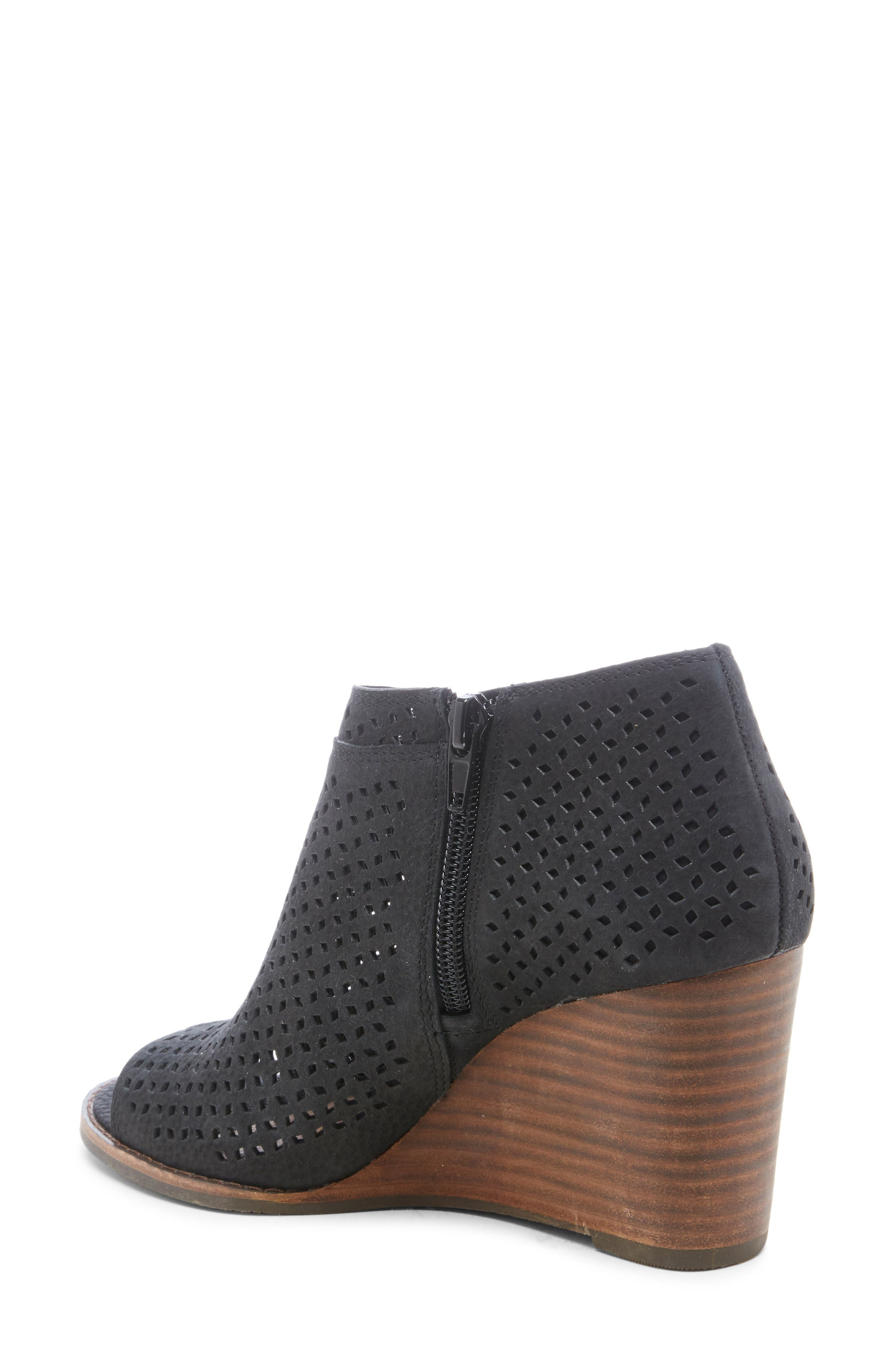 ,                             Jazley Wedge Bootie,                             Alternate thumbnail 2, color,                             BLACK NUBUCK LEATHER