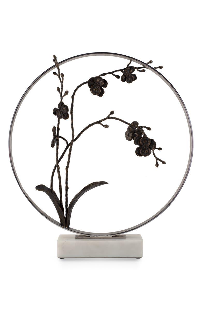 MICHAEL ARAM Black Orchid Moon Gate Sculpture, Main, color, 040