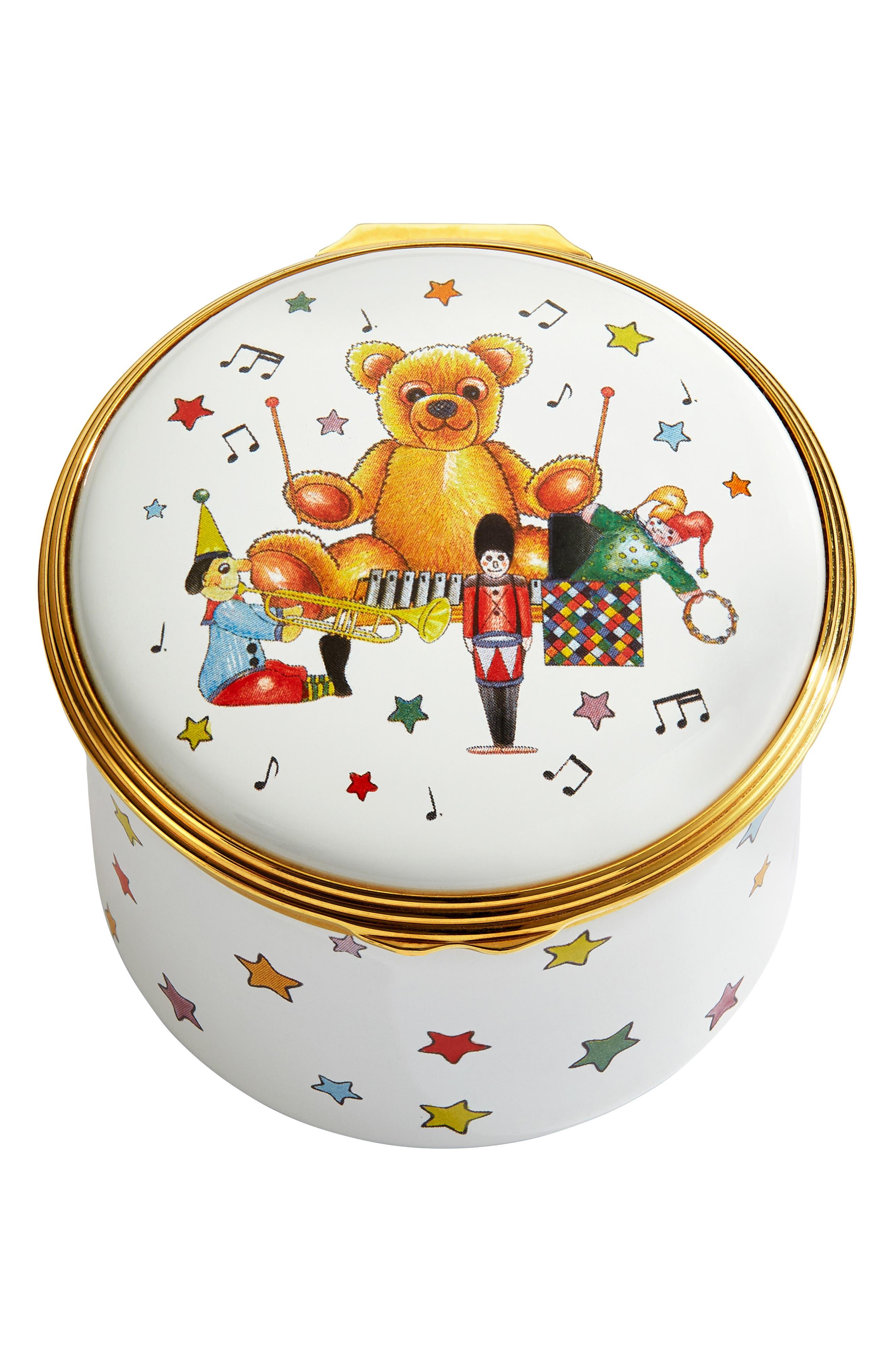 Halcyon Days Twinkle Twinkle Little Star Enamel Music Box Size One Size  White