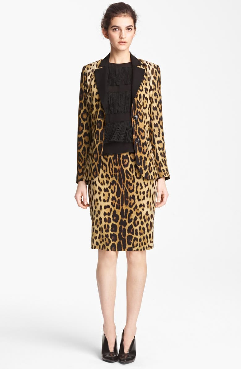 73082ab67133 Moschino Cheap & Chic Leopard Print Blazer | Nordstrom