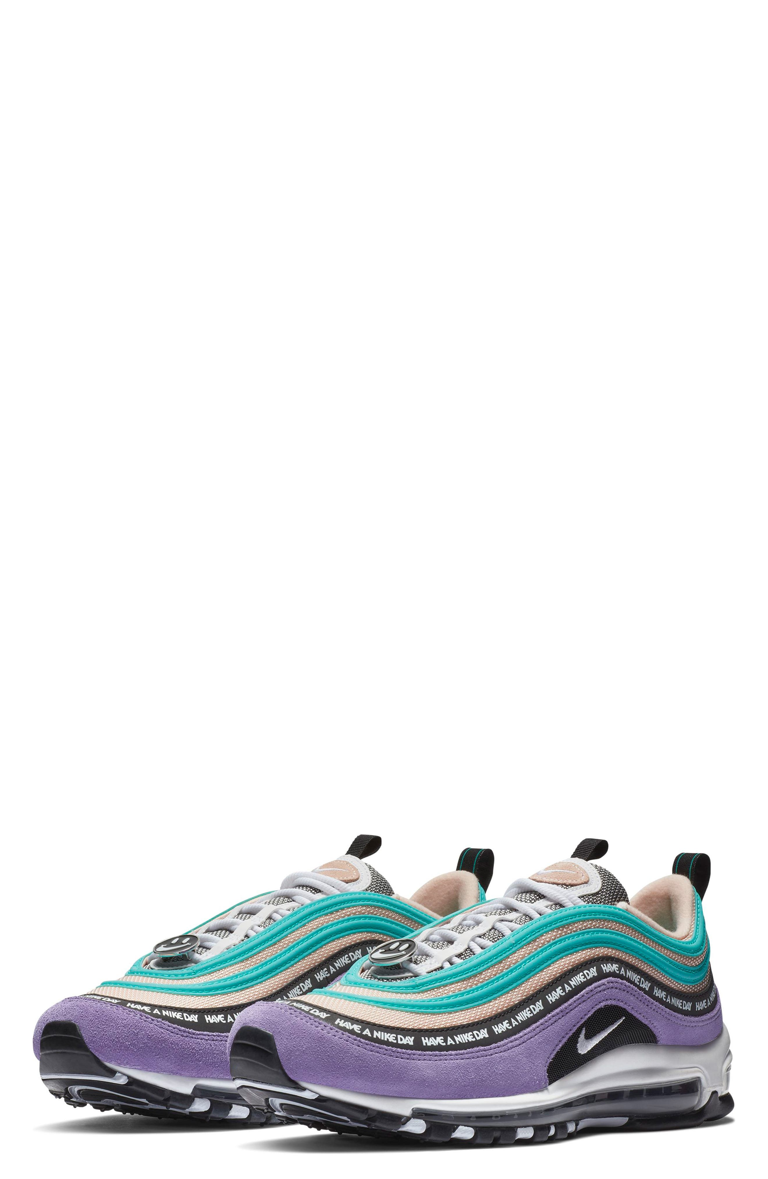 ,                             Air Max 97 Have a Nike Day Sneaker,                             Main thumbnail 1, color,                             SPACE PURPLE/ WHITE