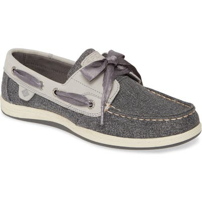 Sperry Koifish Canvas Boat Shoe- Grey