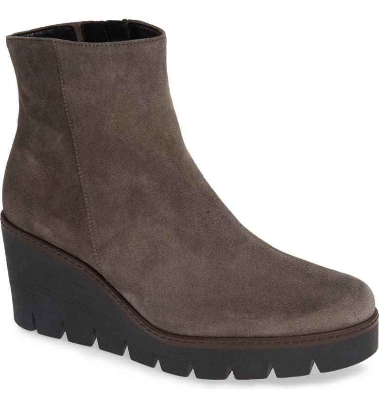 GABOR Friendly Wedge Bootie, Main, color, WALLABY SUEDE