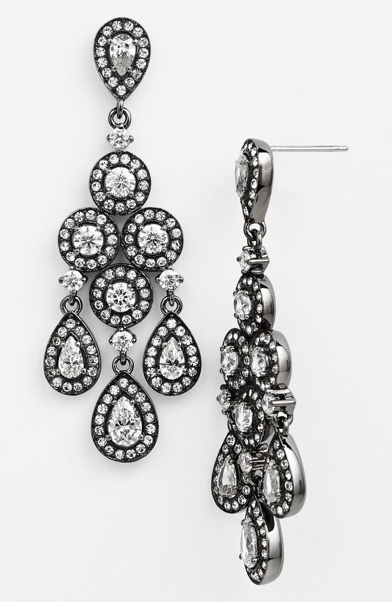 NADRI Framed Chandelier Earrings, Main, color, 020