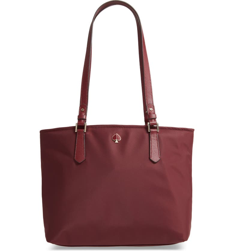 KATE SPADE NEW YORK medium taylor nylon tote, Main, color, CHERRYWOOD