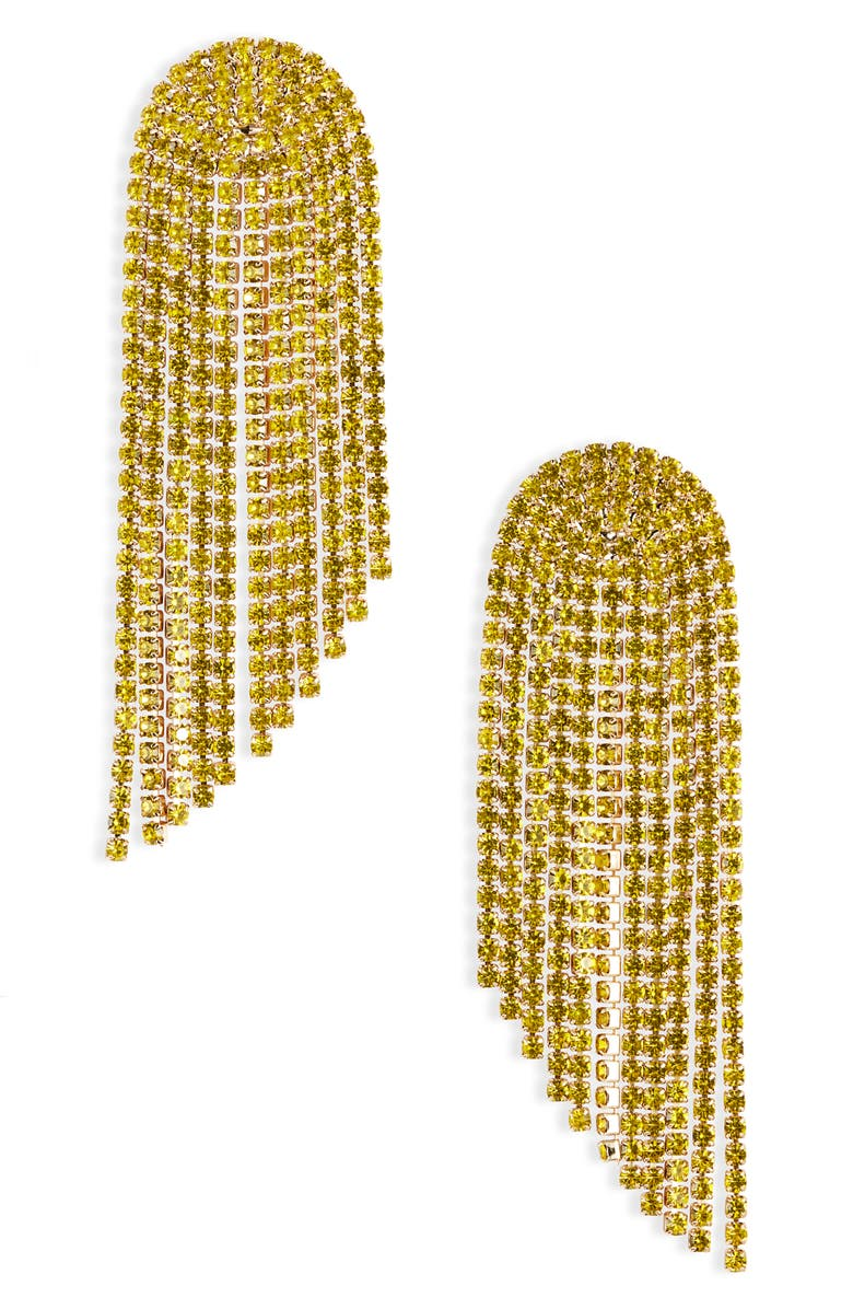 STELLA + RUBY London Chain Drop Earrings, Main, color, GOLD/ YELLOW