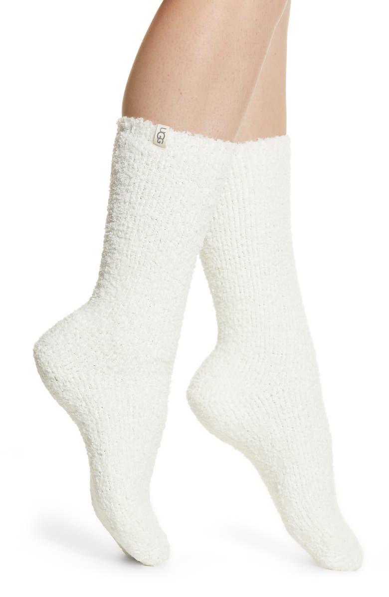 UGG<SUP>®</SUP> Alice Cozy Gripper Socks, Main, color, 100