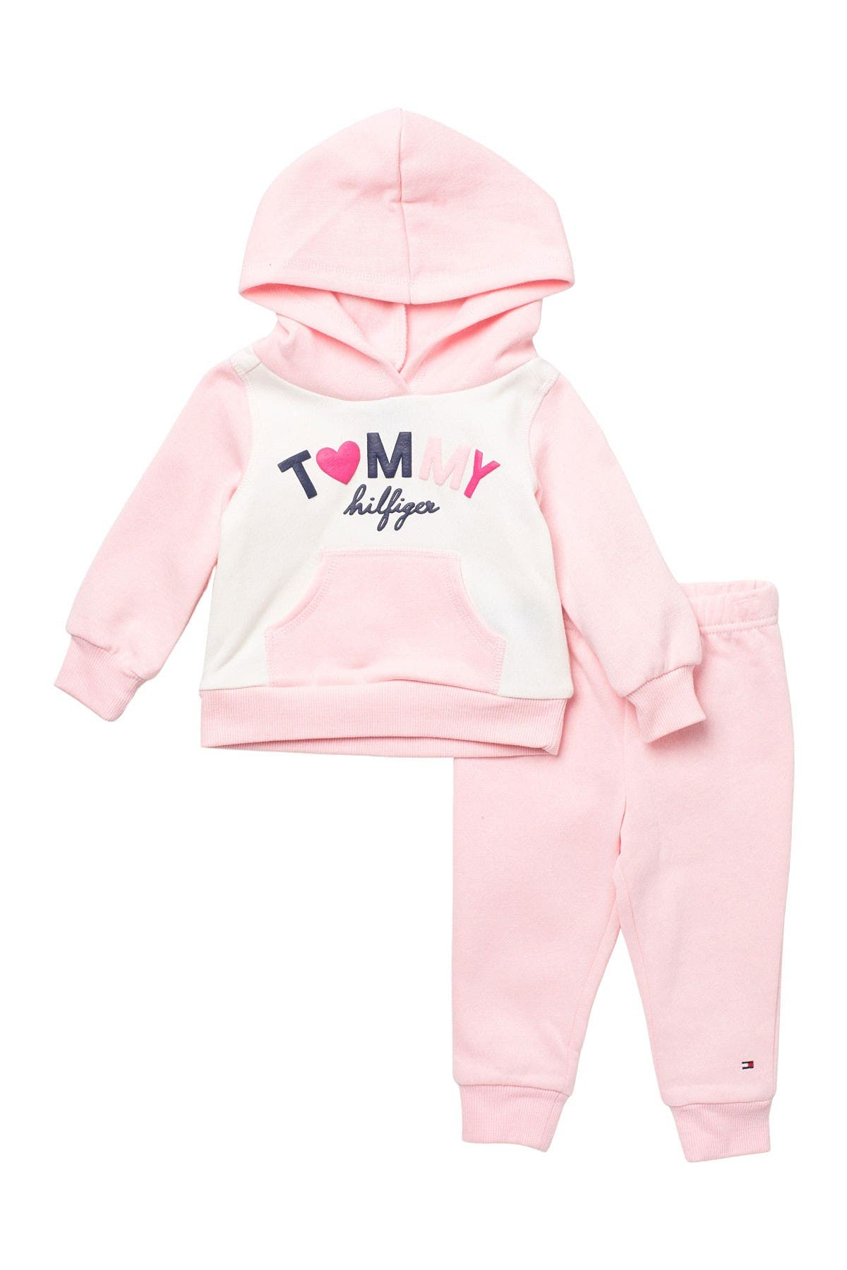 Image of Tommy Hilfiger Brand Logo Pullover Hoodie & Joggers 2-Piece Set