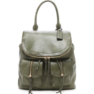 Sole Society Faux Leather Backpack - Green
