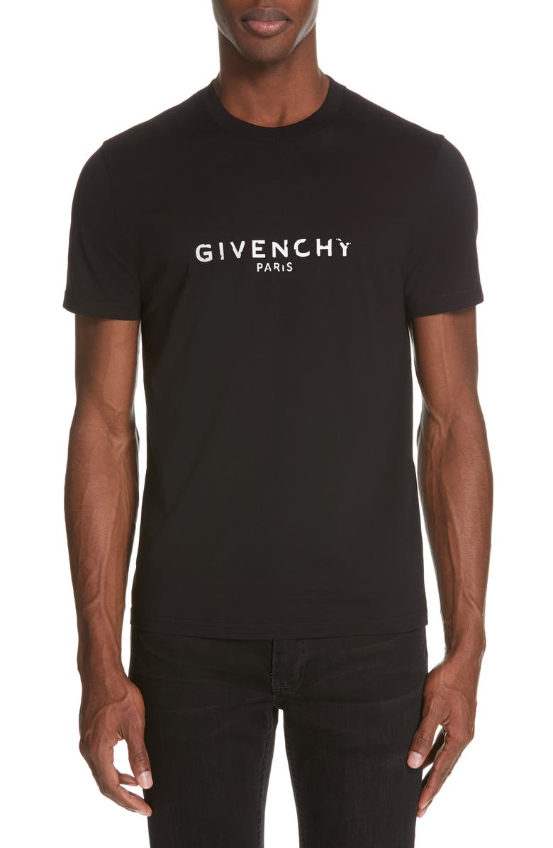 GIVENCHY Vintage Logo T-Shirt, Main, color, BLACK