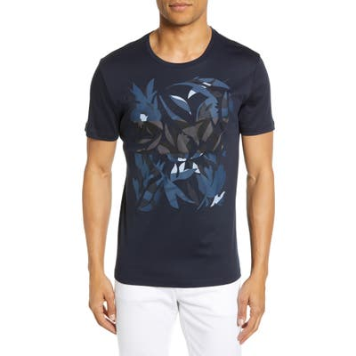 Boss Tessler Slim Fit Graphic T-Shirt, Blue