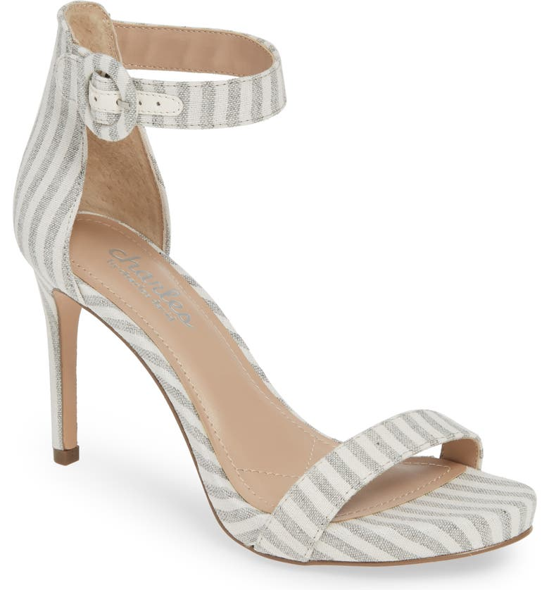 CHARLES BY CHARLES DAVID Cairo Sandal, Main, color, COOL GREY FABRIC
