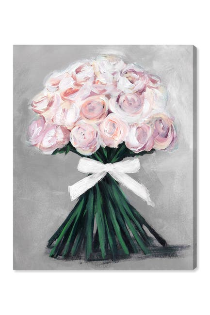 Image of Oliver Gal Gallery Loveliest Bouquet Soft Grey Canvas Art