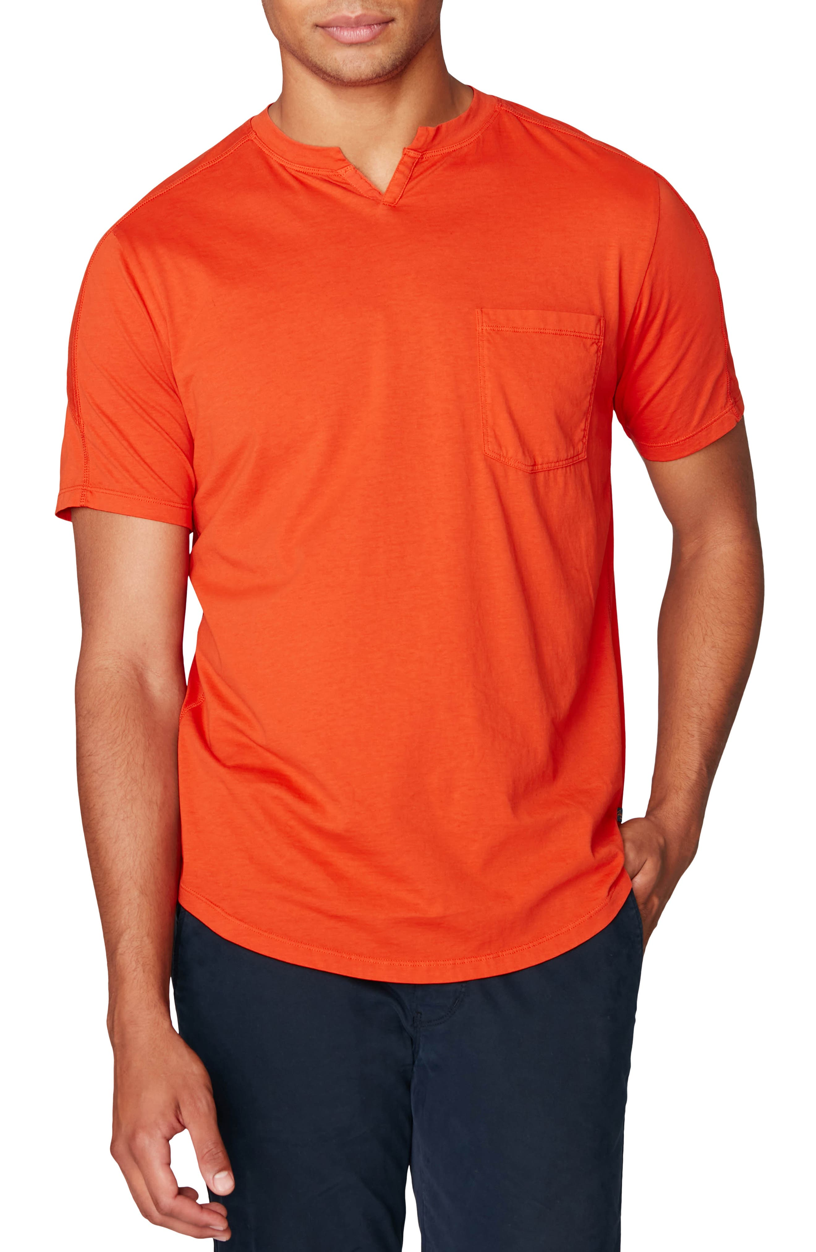 A notched collar updates a wardrobe-staple T-shirt cut from supersoft slub-cotton jersey. Style Name: Good Man Brand Premium Cotton T-Shirt. Style Number: 5534088. Available in stores.