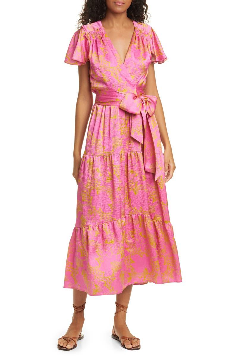 TANYA TAYLOR Liza Silk Maxi Dress, Main, color, 696