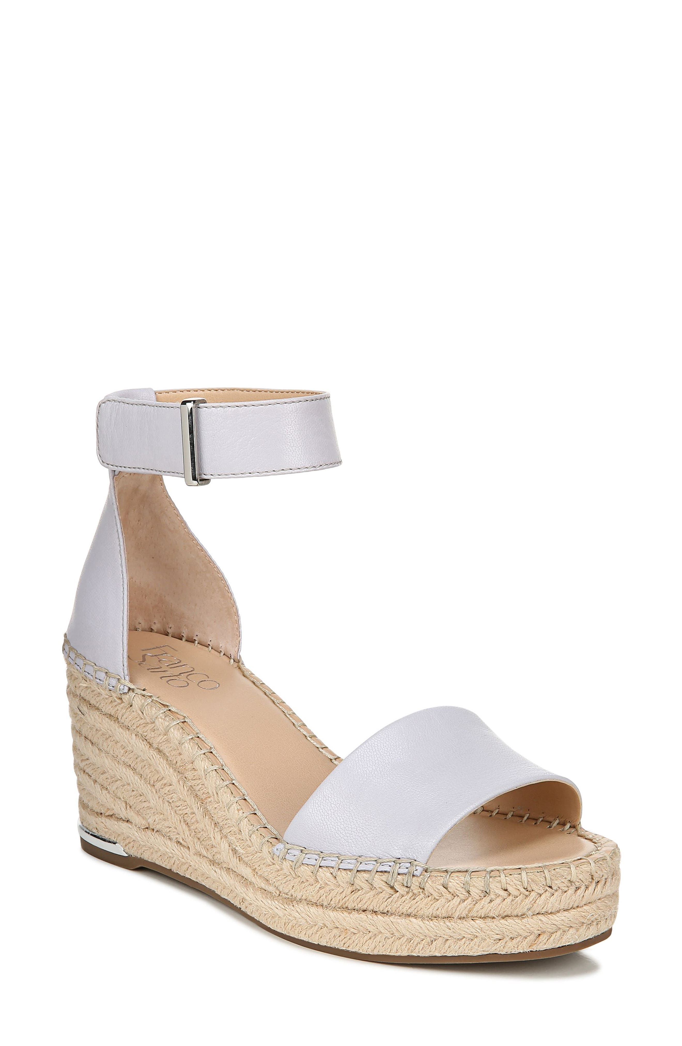 Whether you\\\'re heading for weekend brunch or an outdoor party, put your best foot forward in this espadrille-style wedge sandal. Style Name: Franco Sarto Clemens Espadrille Wedge Sandal (Women). Style Number: 6080323 3. Available in stores.