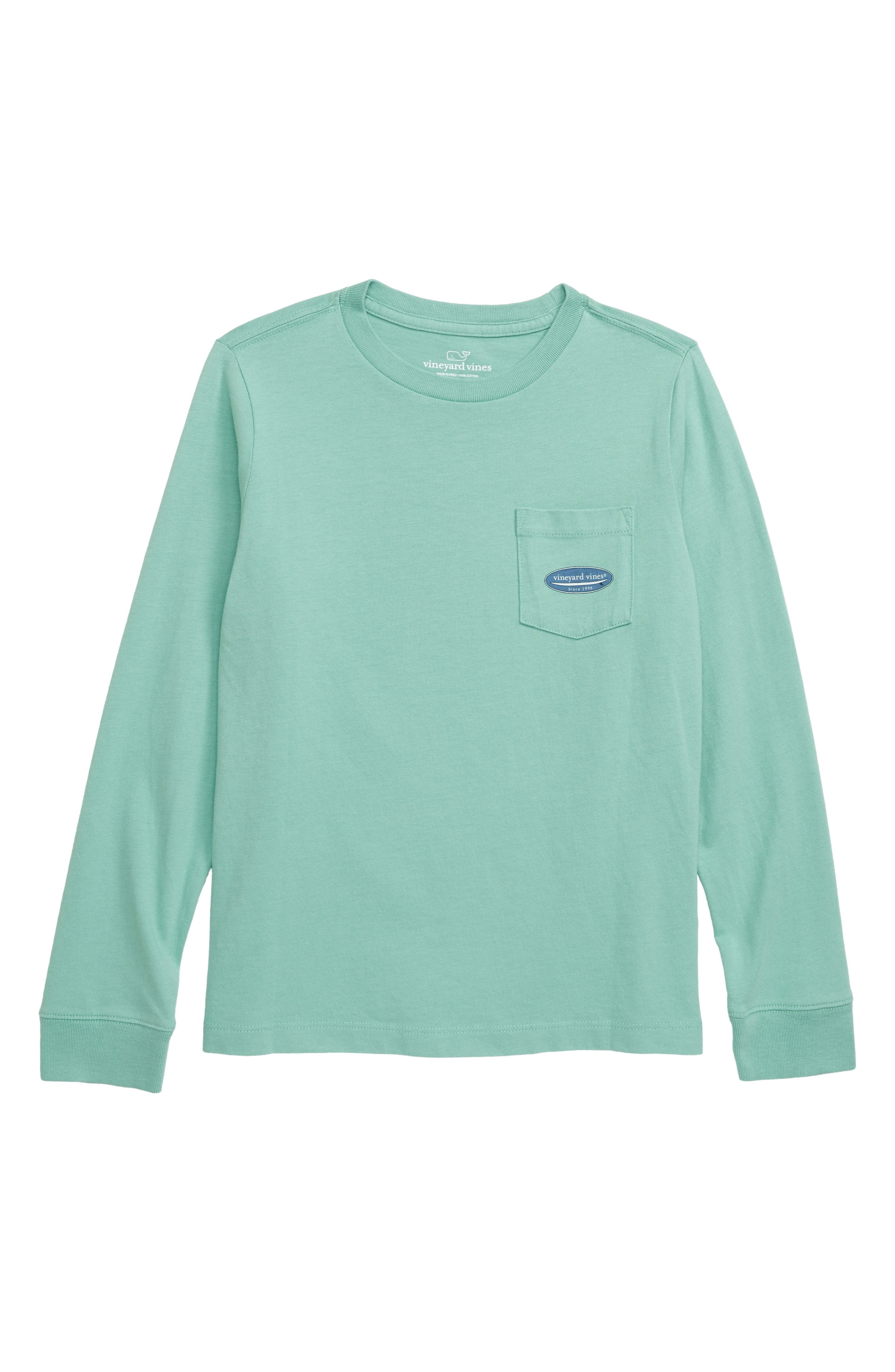 Boys Vineyard Vines Surf Logo Pocket TShirt Size M (1214)  Green