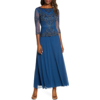 Pisarro Nights Bead Embellished Gown