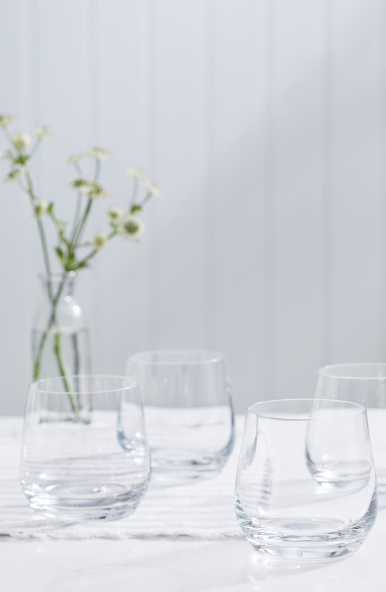 THE WHITE COMPANY Belgravia Set of 4 Tumblers, Main, color, CLEAR