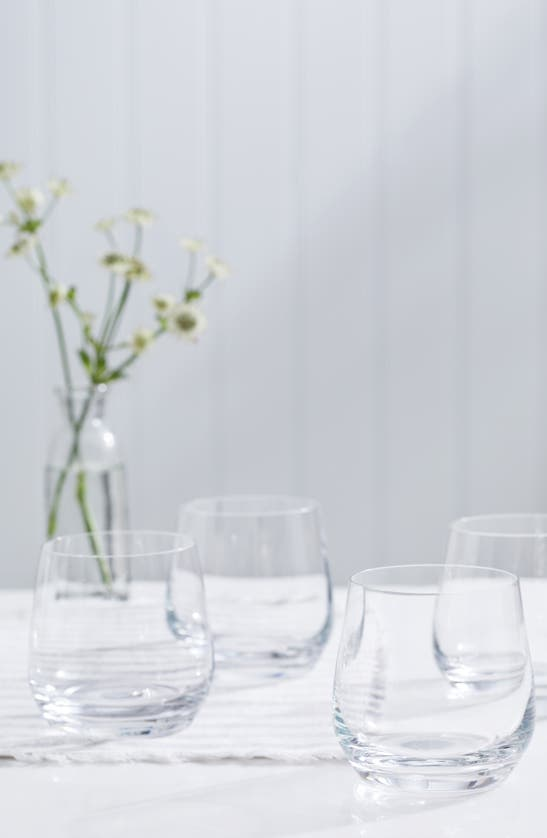 The White Company Belgravia Tumblers Set Of Four In Clear