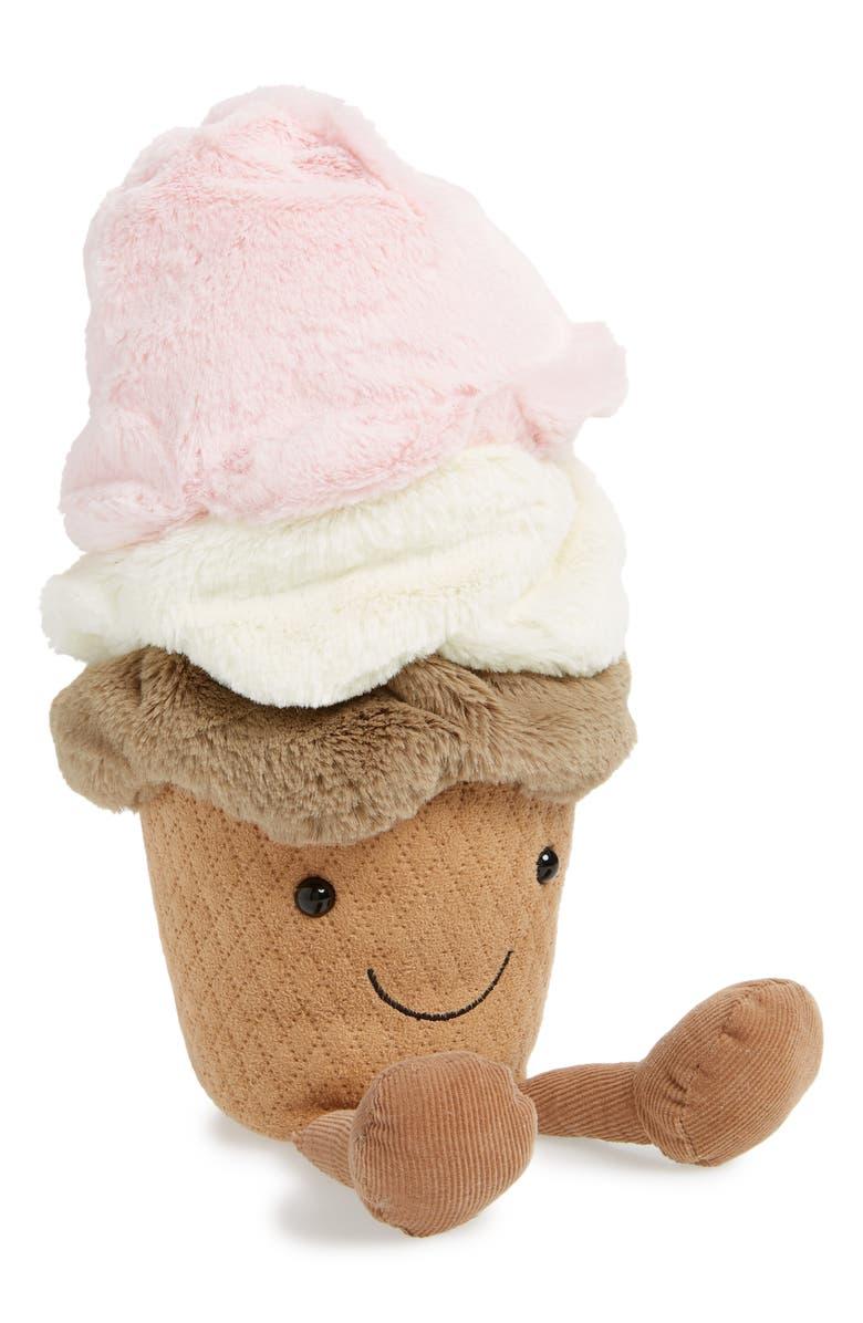 JELLYCAT Amusable Ice Cream Cone Plush Toy, Main, color, MULTI