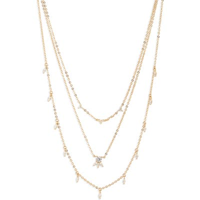 Nordstrom Dainty Marquise Triple Strand Necklace