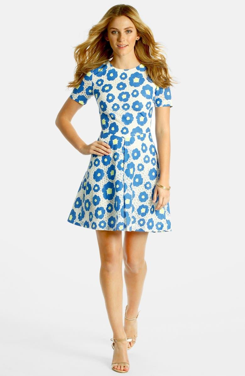 LABEL BY FIVE TWELVE Floral Jacquard Dress, Main, color, 407