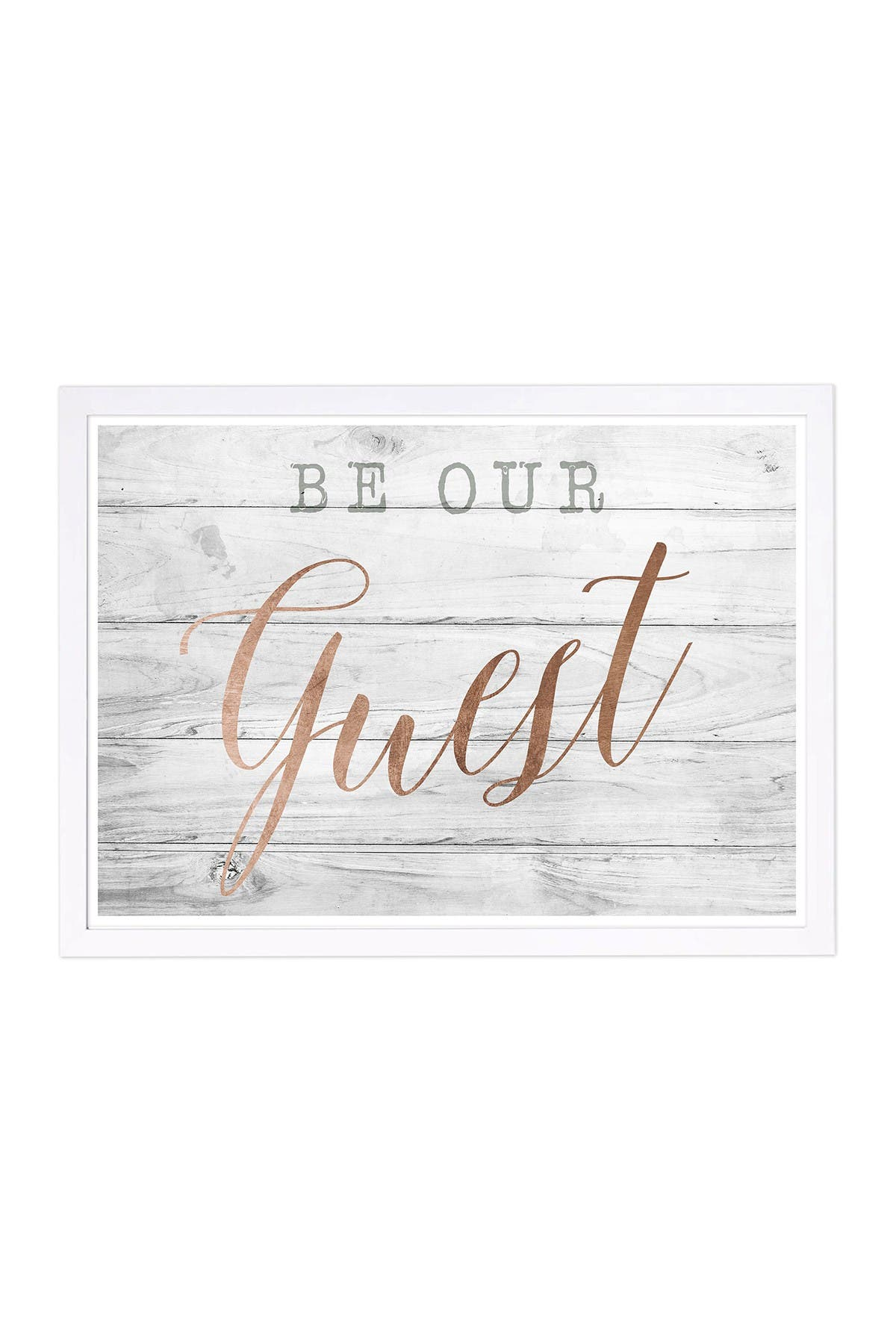Wynwood Studio Be Our Guest Copper Framed Wall Art at Nordstrom Rack