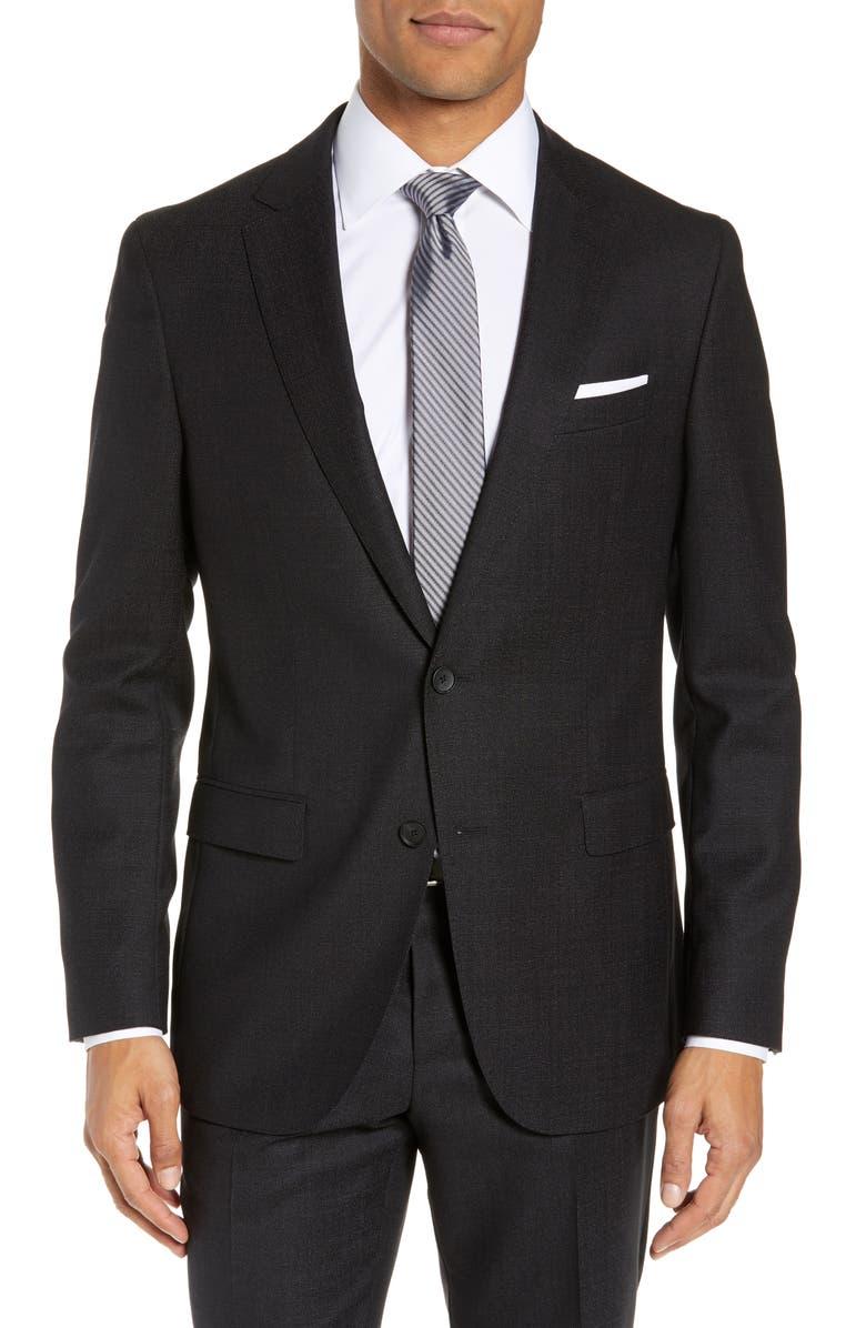 BOSS Novan Slim Fit Wool Blazer, Main, color, 001