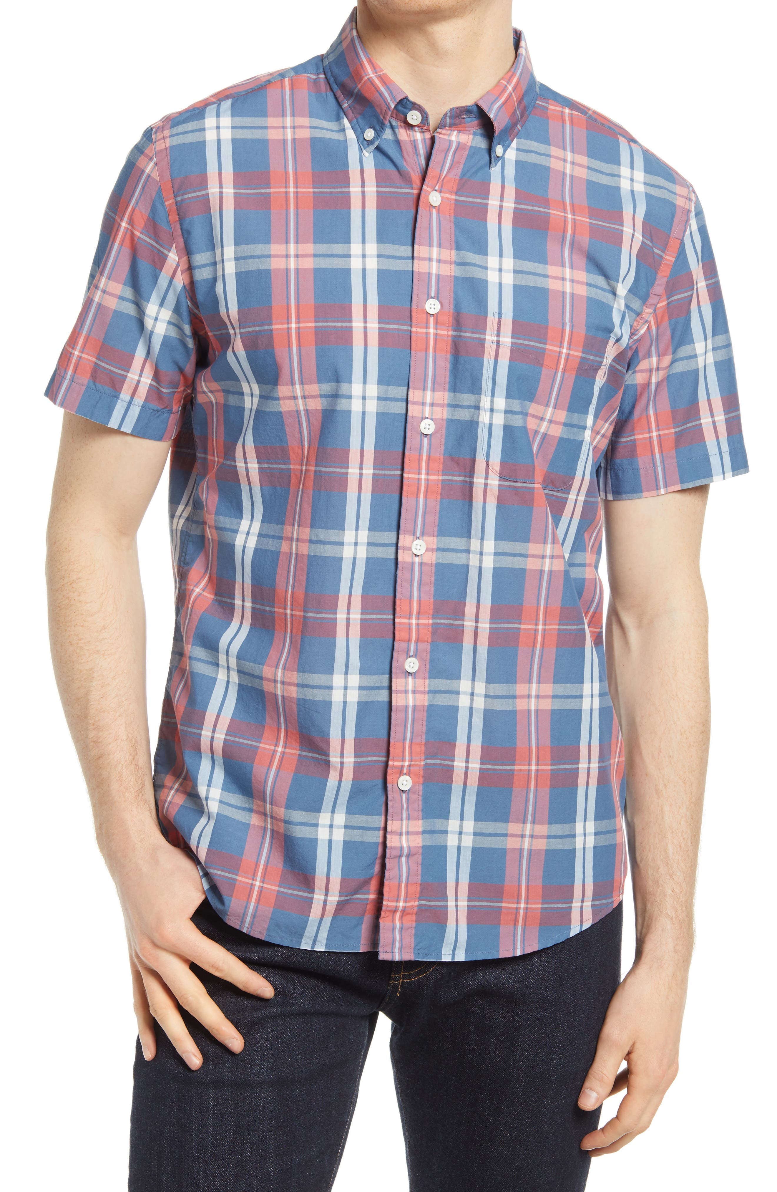Playa Plaid Short Sleeve Button-Down Shirt