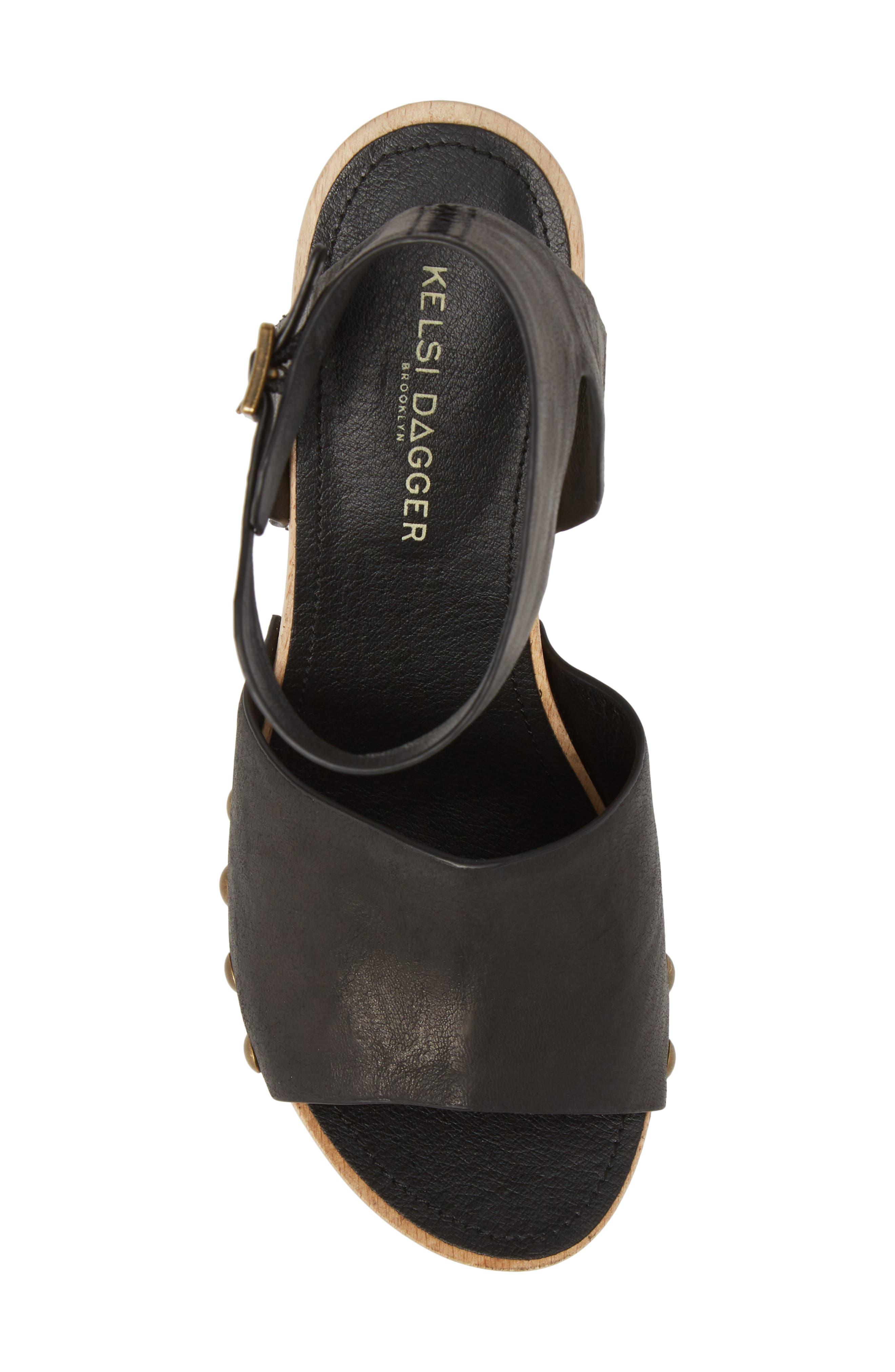 ,                             Farris Platform Sandal,                             Alternate thumbnail 5, color,                             001