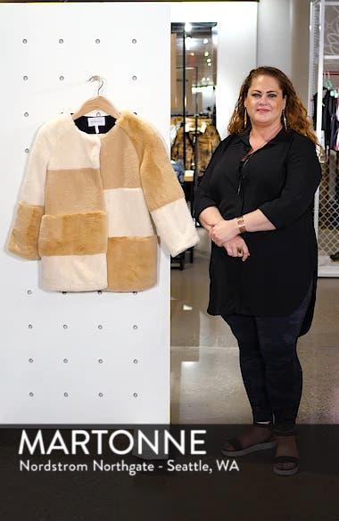 Patchwork Faux Fur Jacket, sales video thumbnail