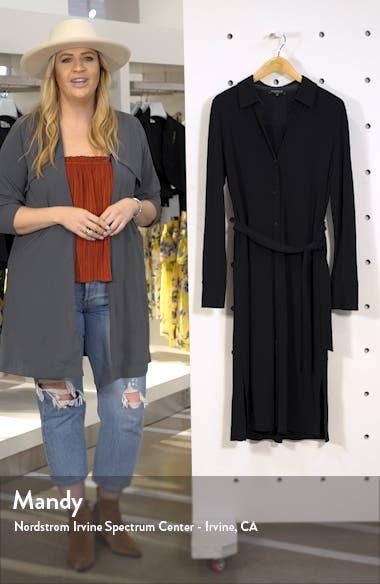 Rea Long Sleeve Midi Shirtdress, sales video thumbnail