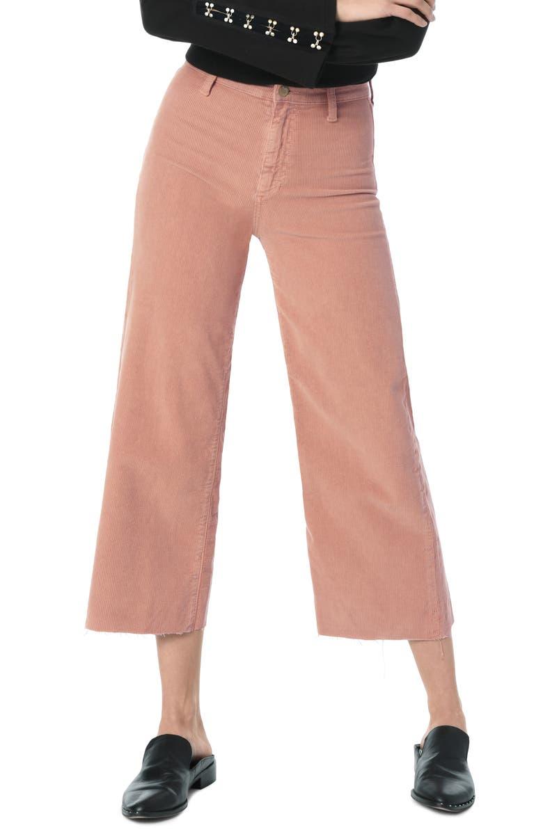 daecabb50b High Waist Corduroy Crop Flare Pants, Main, color, 650