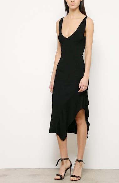 Asymmetrical Ruffle Hem Midi Dress, video thumbnail