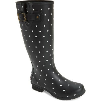 Chooka Classic Dot Rain Boot, Black