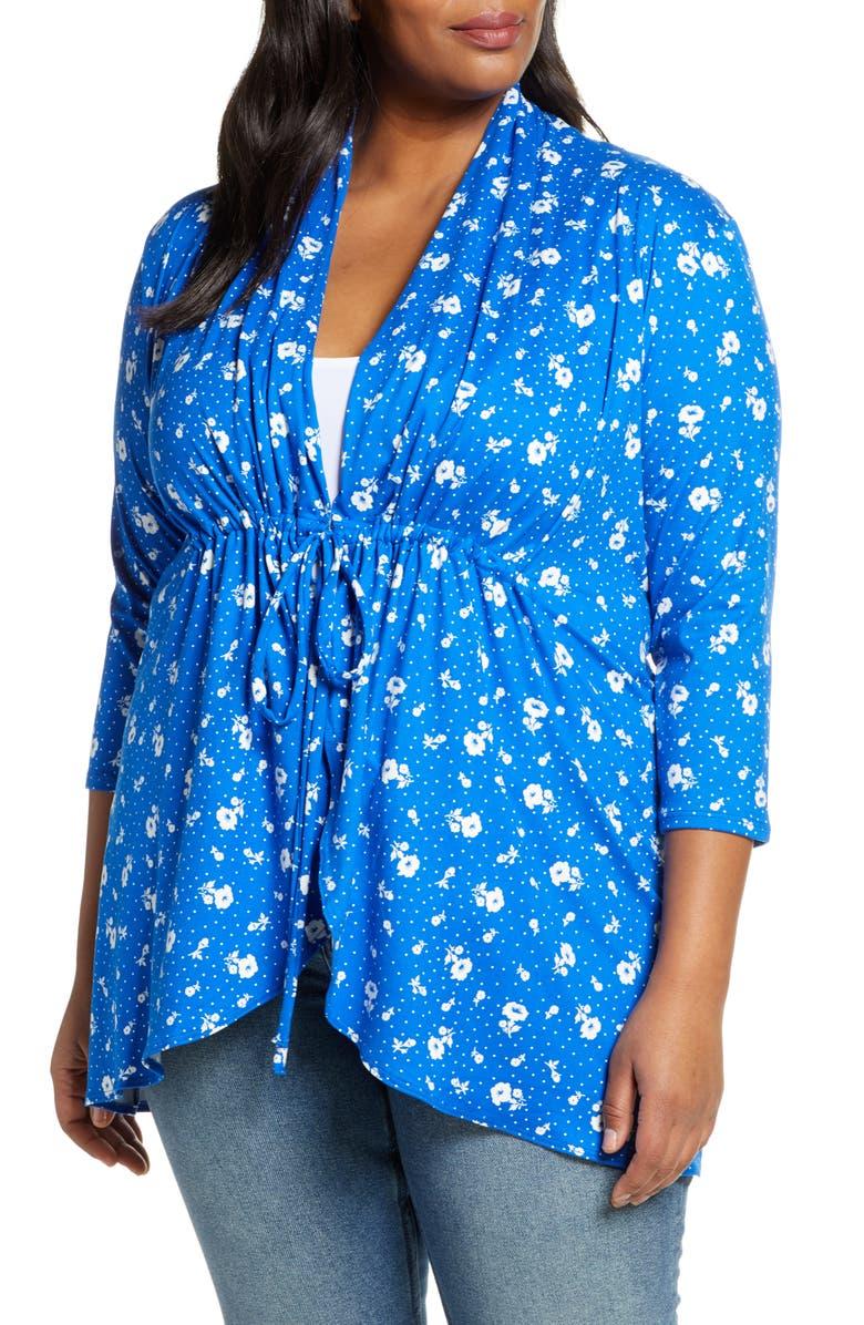 KIYONNA Lori Print Tunic Jacket, Main, color, PETITE FLEUR