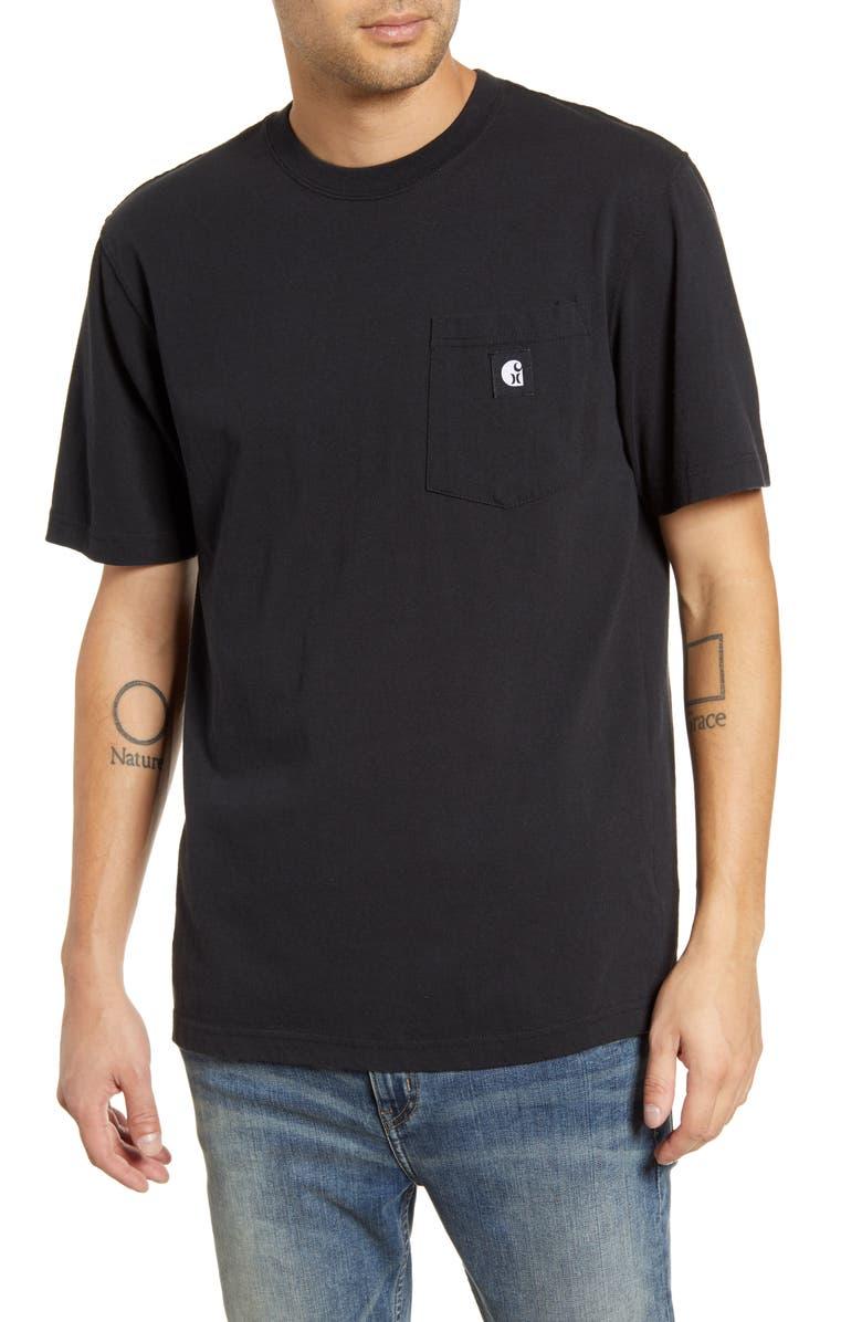 HURLEY x Carhartt Logo Pocket T-Shirt, Main, color, BLACK