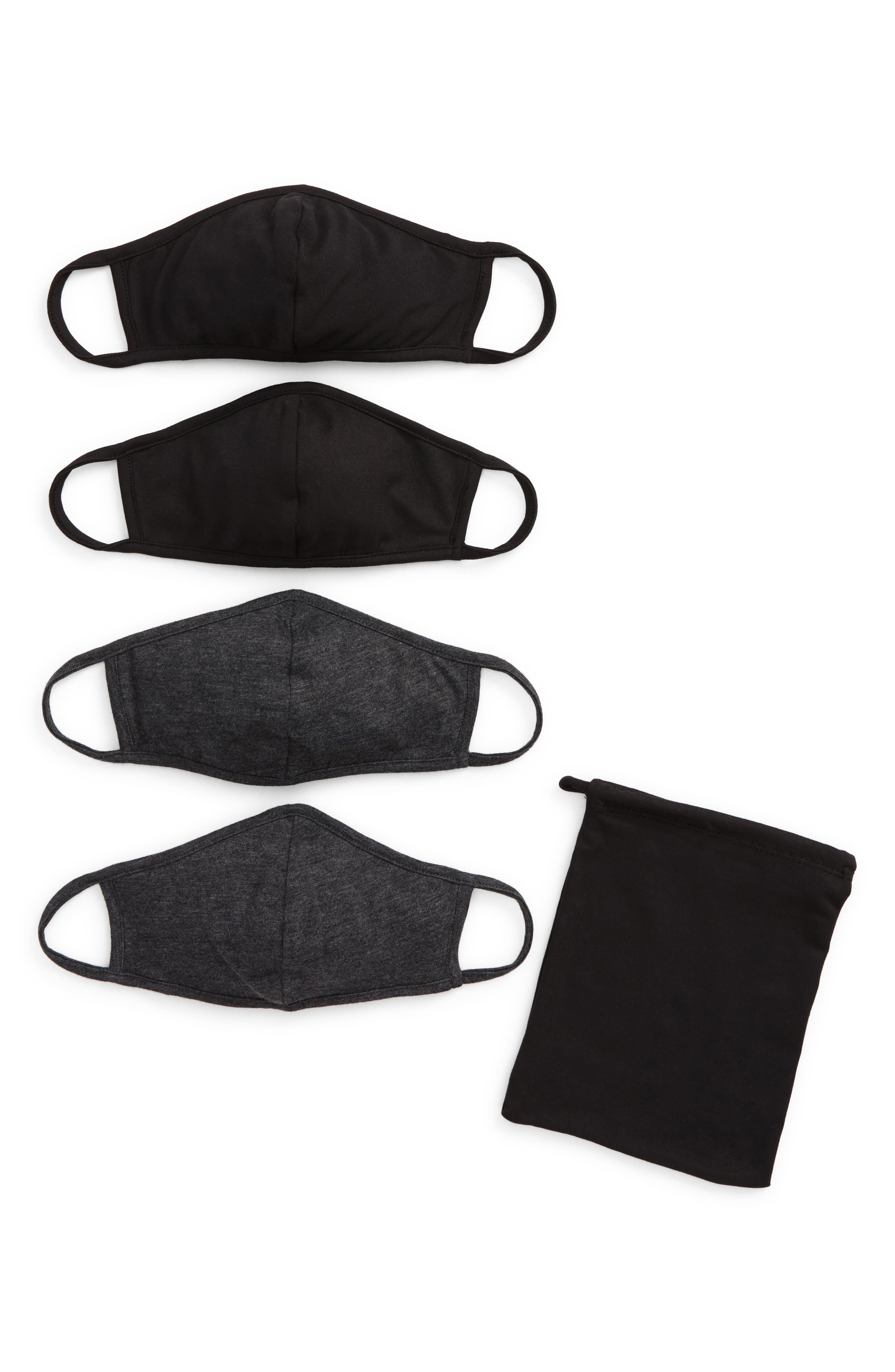 Image of Nordstrom Solid Knit Mask - Pack of 4