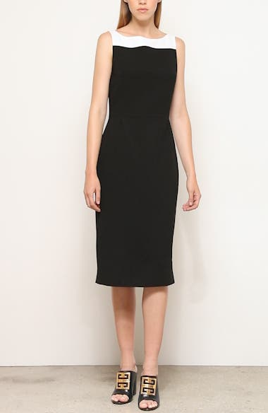 Megan Bicolor Wool Midi Dress, video thumbnail