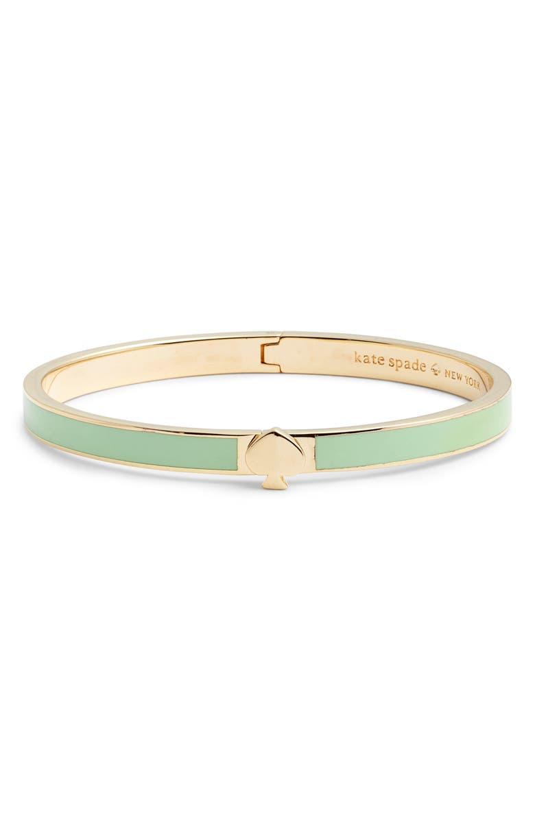 KATE SPADE NEW YORK enamel spade bangle, Main, color, MINT