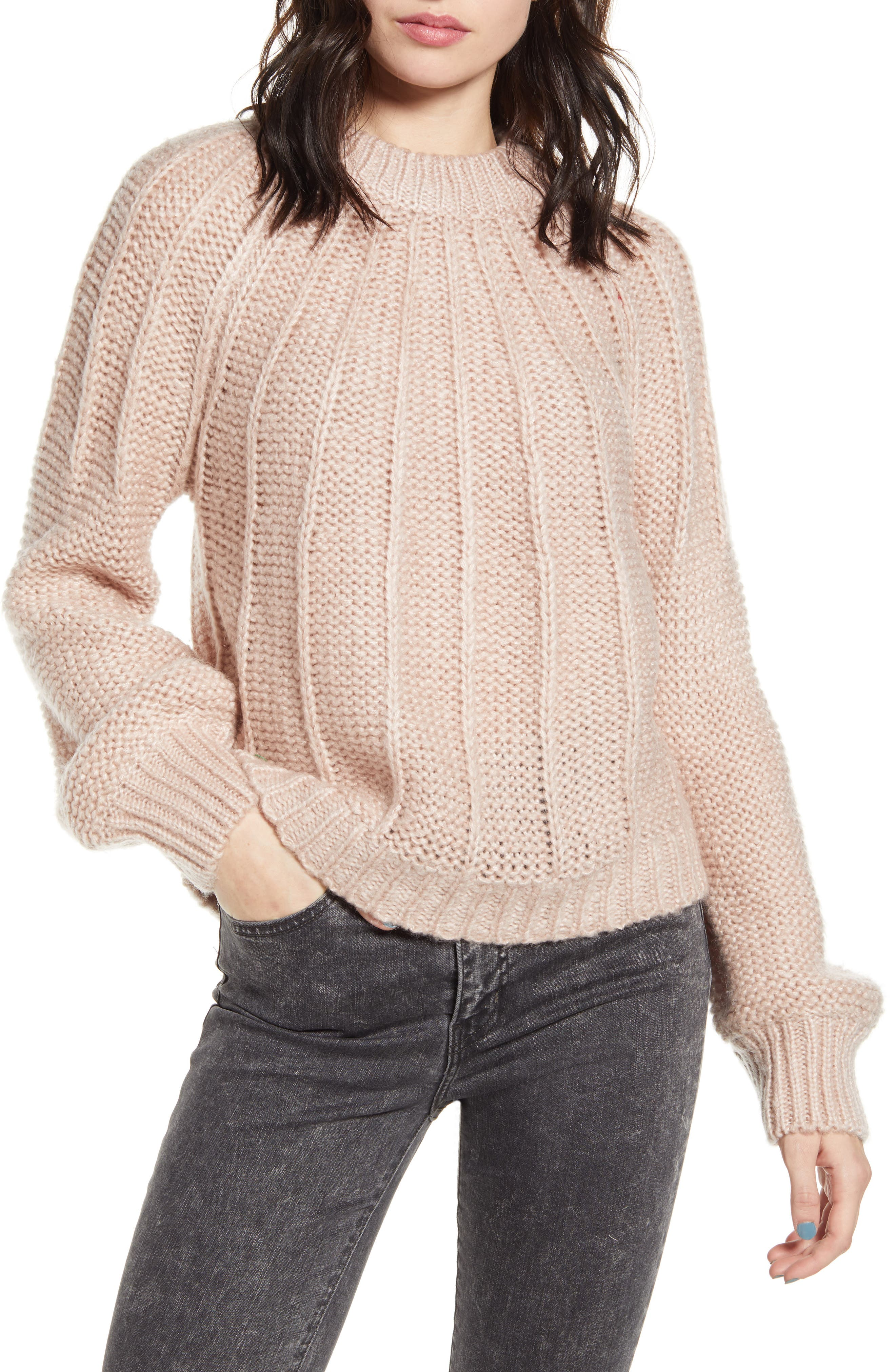 Dreamers by Debut Seam Detail Crop Sweater