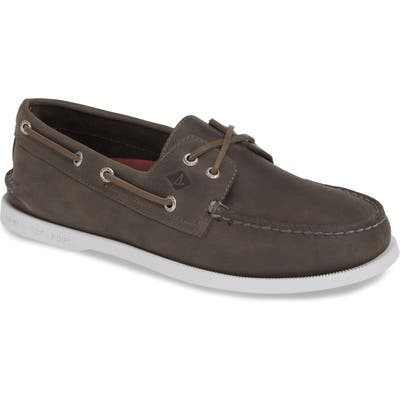 Sperry Authentic Original Cross Boat Shoe, Grey