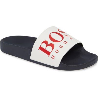 Boss Solar Slide Sandal, Blue