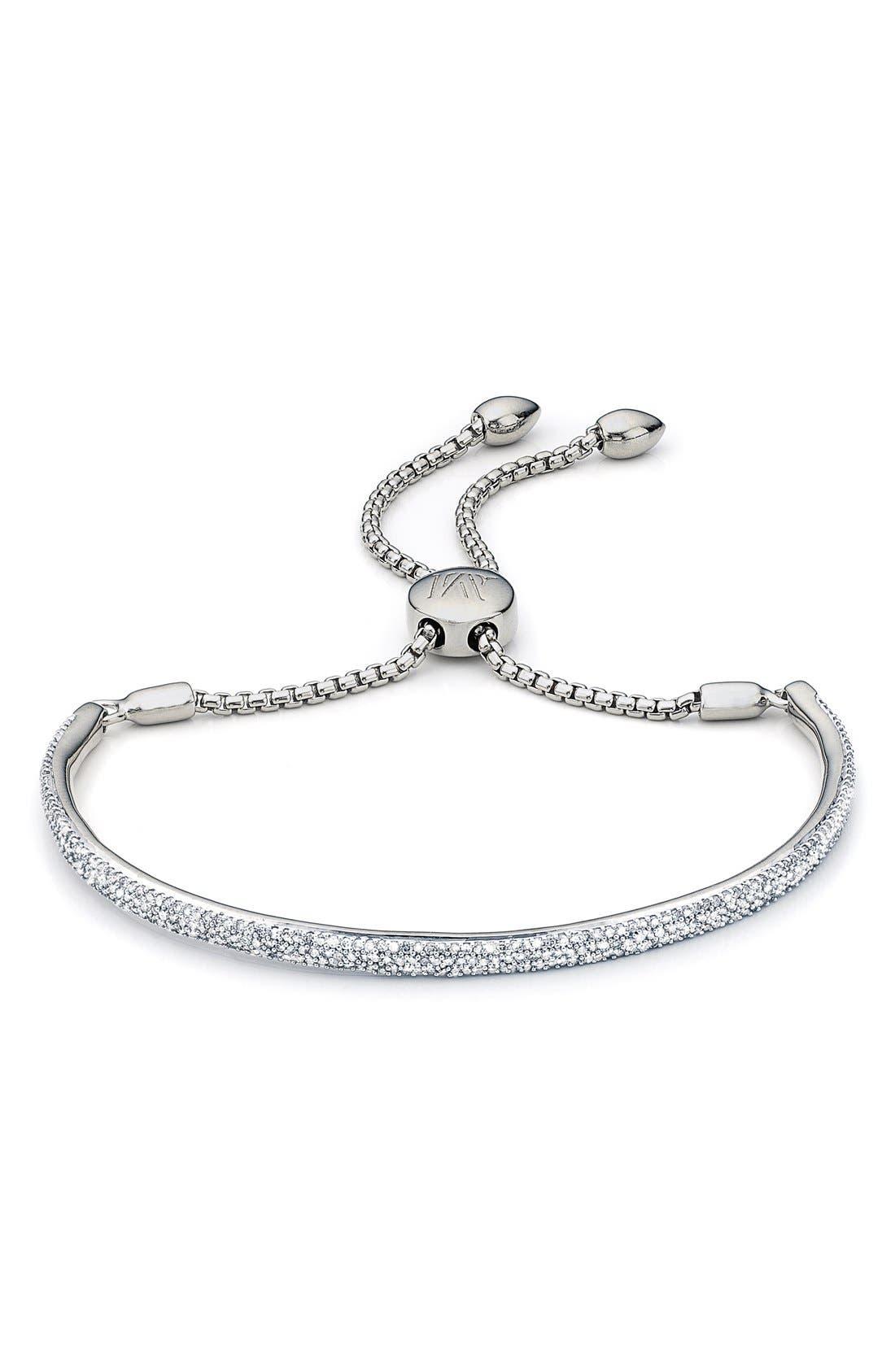 Fiji Diamond Bar Bracelet, Main, color, SILVER