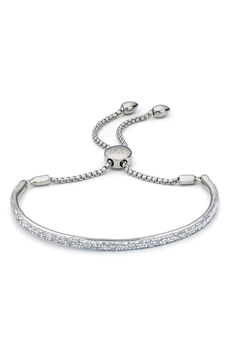 MONICA VINADER Fiji Diamond Bar Bracelet, Main, color, SILVER