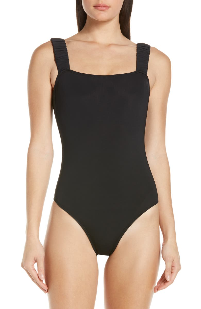 BETH RICHARDS Scrunch One-Piece Swimsuit, Main, color, 001